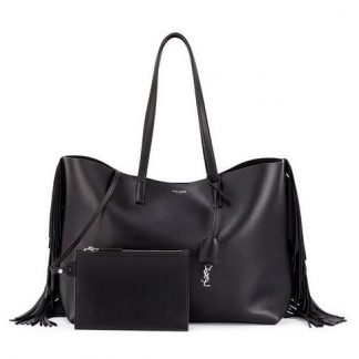 d41f2c5b1811 You re viewing  50% Off Discount Saint Laurent Black Fringed Shopping Tote  Bag Raleigh