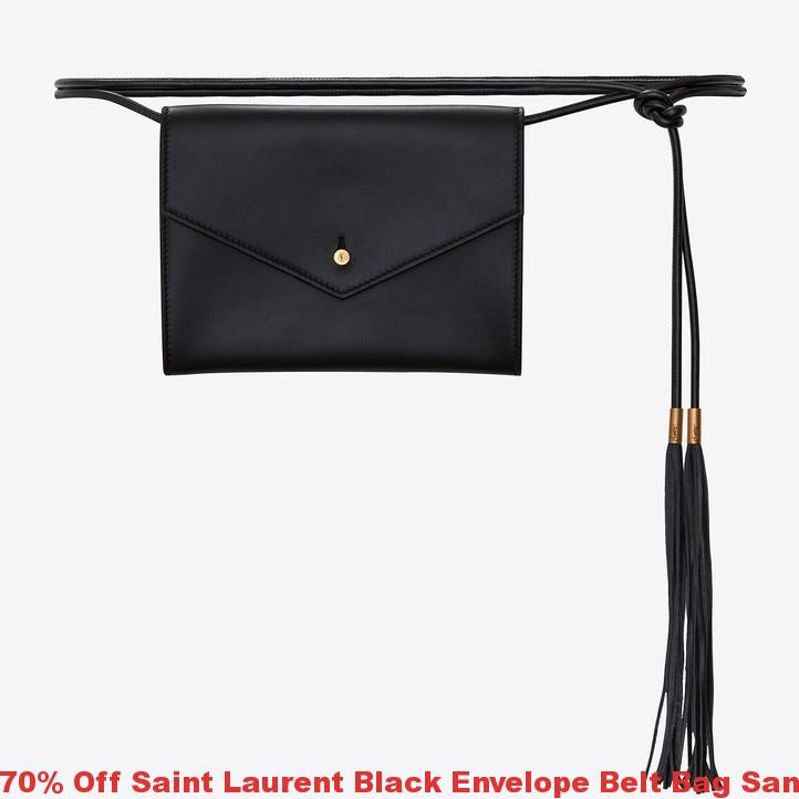 76a507231e20 70% Off Saint Laurent Black Envelope Belt Bag San Jose