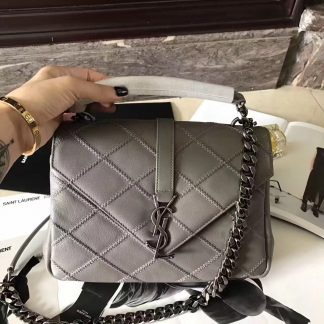 a11a0a0a201a You re viewing  Discount Saint Laurent Medium College Bag In Grey Matelasse  Leather El Paso