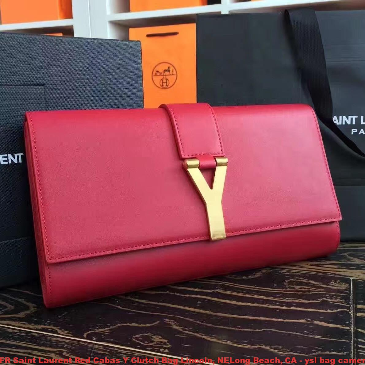 Fr Saint Laurent Red Cabas Y Clutch Bag Lincoln Nelong