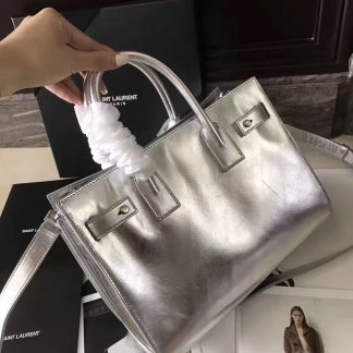 2bcc355bdf Free Shipping Saint Laurent Baby Sac De Jour Souple Bag In Silver Metallic  Leather Anaheim, CA - saint laurent logo sandals - 1526