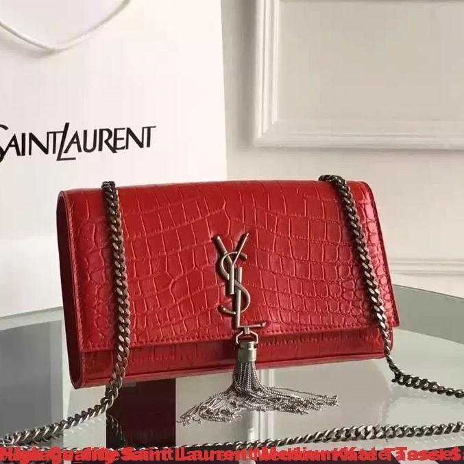 High Quality Saint Laurent Medium Kate Tassel Satchel In