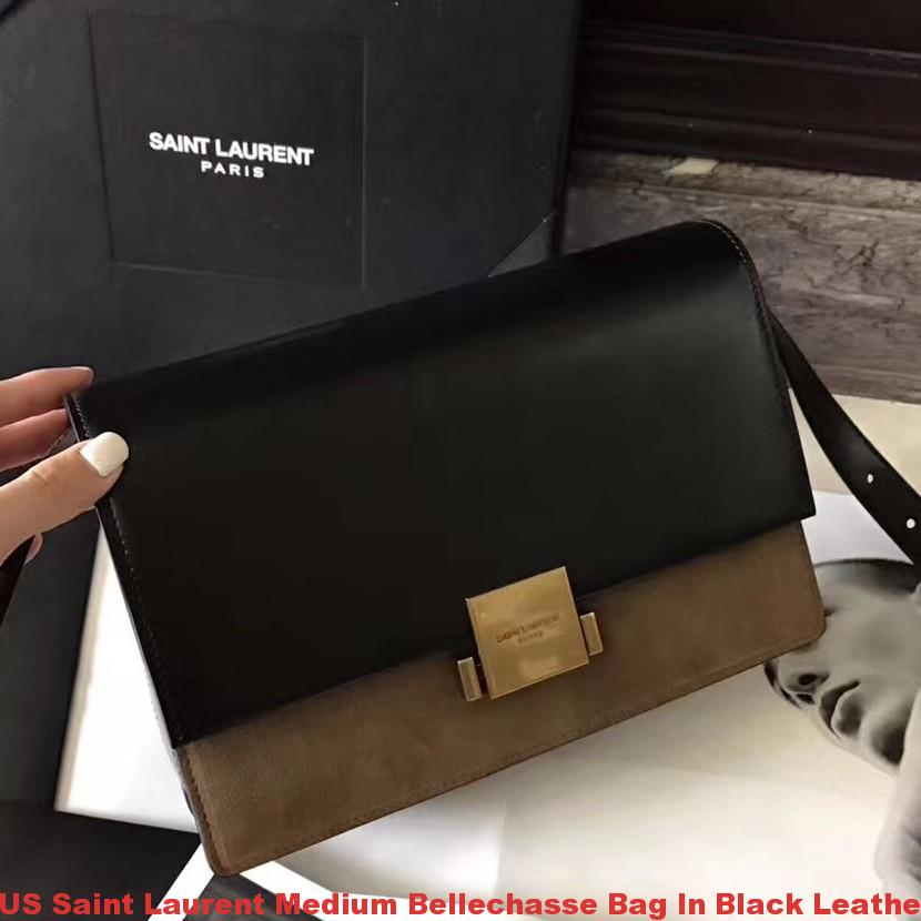 Us Saint Laurent Medium Bellechasse Bag In Black Leather
